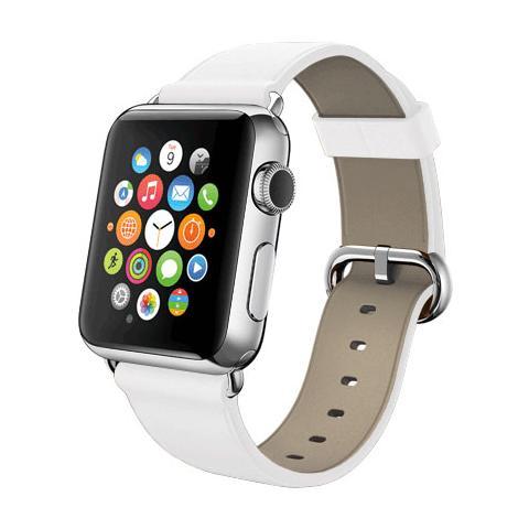 FONEX Cinturino WristBand in vera pelle per Apple Watch da 38mm - Bianco