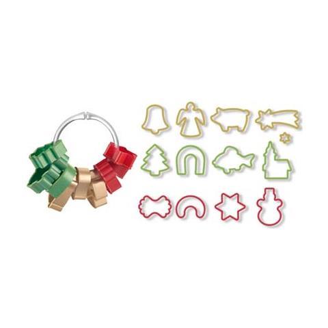 Tagliabiscotti di natale in anello 13 pezzi delicia