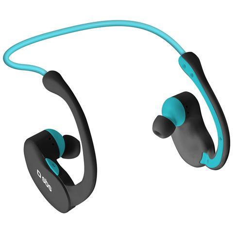 SBS Auricolare Stereo Sport Runway Evolution con archetto Tasto per risposta Bluetooth 3.0 - Nero