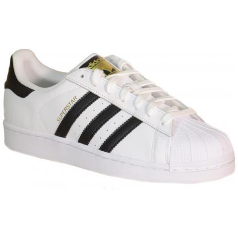 Adidas Superstar J Scarpe Bianche Pelle C77154 36,5