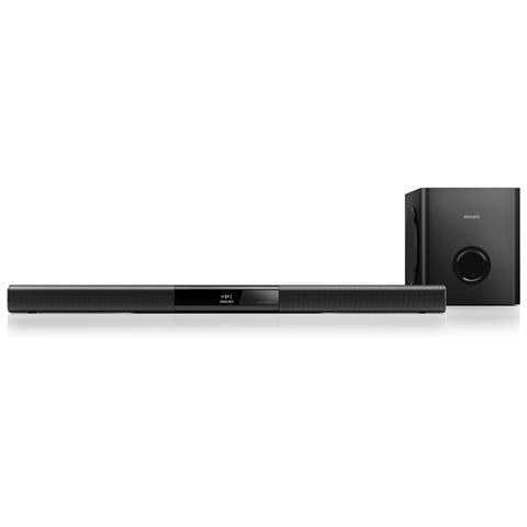 PHILIPS Soundbar HTL3140B / 12 Dolby Digital 2x40 Watt Bluetooth / NFC Ingresso HDMI / AUX / USB Subwoofer Wireless