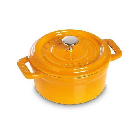Cocotte rotonda 22 cm 2,6 l antigraffio color senape