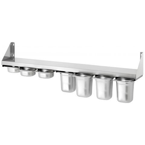 Mensola in acciaio inox porta contenitori 7 x GN 1/6 389140