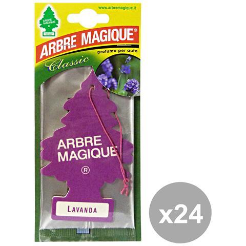 Arbre Magique Set 24 Deodorante Lavanda Accessori Auto