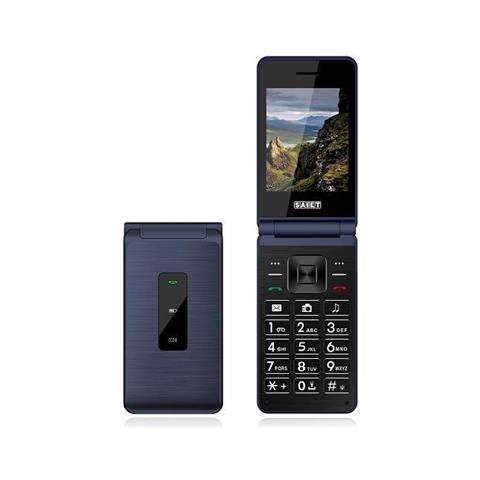 "SAIET Select Senior Phone Dual Sim Display 2.4"" Micro SD Bluetooth con Tasti Grandi + SOS Fotocamera 1.3 Mpx Colore Blu"