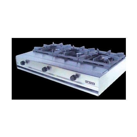 Fornellone A Gas Professionale 3 Fuochi Cm 103x62x20 Rs0883