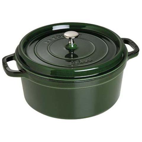 Cocotte in Ghisa con Coperchio Diametro 22 cm Colore Verde