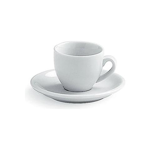 Tazzina da Caffè con Piattino Cc. 80 Colore Bianco
