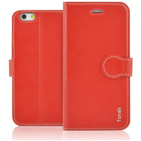 FONEX Identity Book Custodia a Libro per iPhone 6/6S Colore Rosso