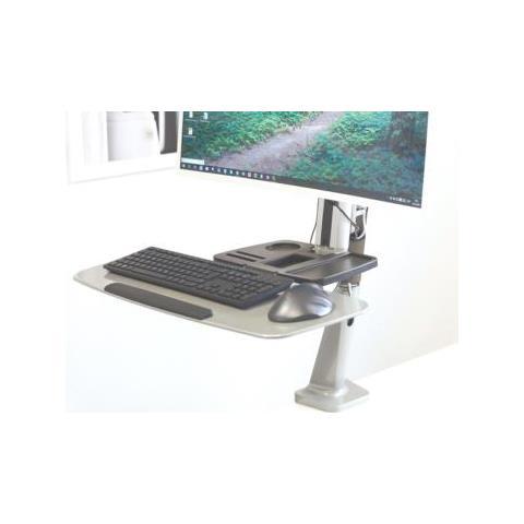 DIGITUS Postazione di Lavoro Ergonomica Seduti / In Piedi Per Installazione Sulla Scrivania