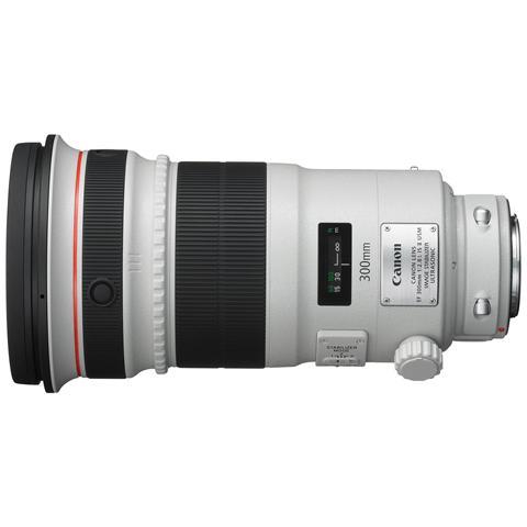 EF 300mm F / 2.8L IS II USM, SLR, 16/12, Telefoto, Ring USM, 0,18x, Nero, Bianco