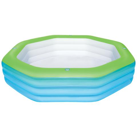 54119 Piscina gonfiabile Ottagonale 1030L Blu, Verde piscina fuori terra