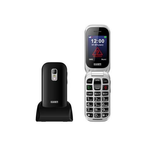 "SAIET Unico+ Senior Phone Display 2.4"" + Slot MicroSD Tasti Grandi e SOS Fotocamera Colore Nero - Italia"