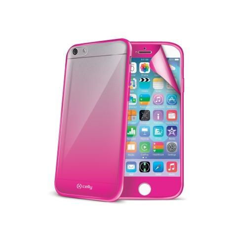 CELLY Custodia più Screen Protector per Iphone 6 - ROSA