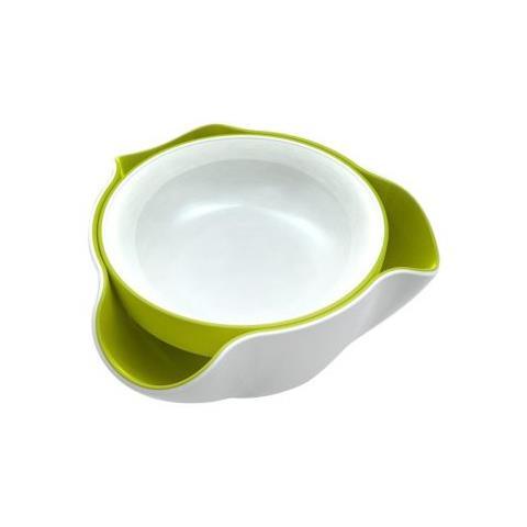 Antipastiera Double Dish colore bianco-verde