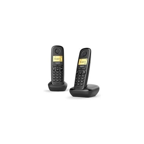 Gigaset Cordless Duo A170 Analog / DECT colore Nero