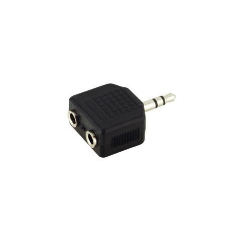 EDNET 2 x 3.5mm - 3.5mm stereo jack 2 x 3.5 mm 3,5 mm Nero cavo di interfaccia e adattatore