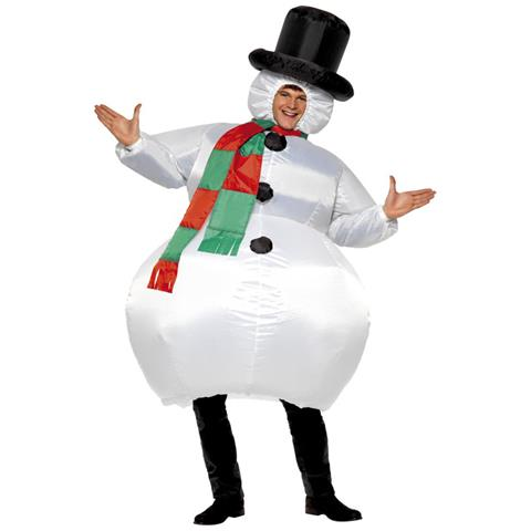JADEO - Costume Da Pupazzo Di Neve Gonfiabile Per Adulti Taglia Unica 6c0543ccb99e