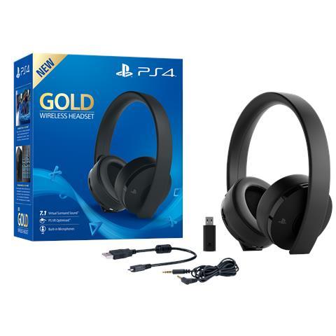 SONY [Ricondizionato GOLD] Cuffie Gold Wireless Headset per Ps4