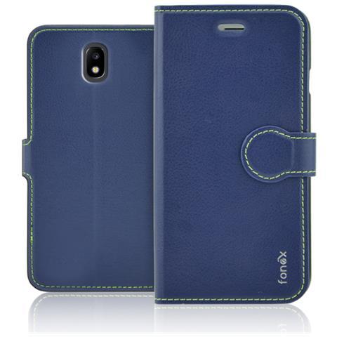FONEX Flip Cover Custodia Identity Per Sgh Galaxy J7 2017 - Blu