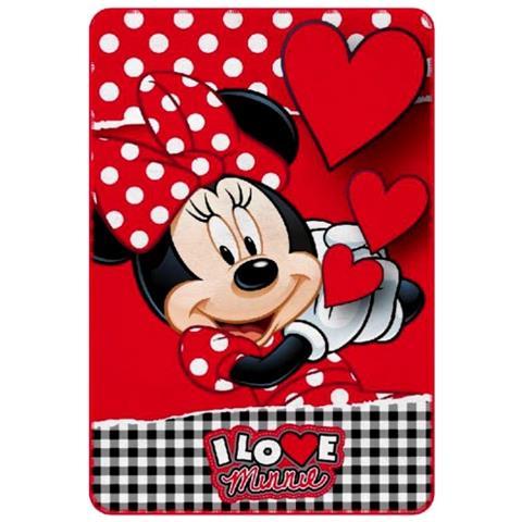 Minnie Coperta In Caldo E Morbido Pile 237140 Love 100 X 150 Cm Plaid