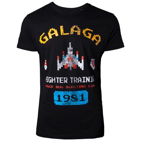BIOWORLD Arcade Classics - Galaga Vintage Black (T-Shirt Unisex Tg. S)