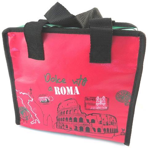 Borsa Alimenti Freschi 'rome' Verde Rosa - 23x205x13 Cm - [ p2836]