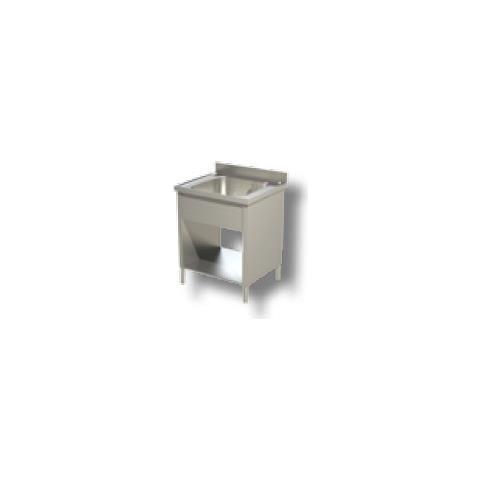 Lavello 60x70x85 Acciaio Inox 430 Su Fianchi Ripiano Cucina Ristorante Rs4822