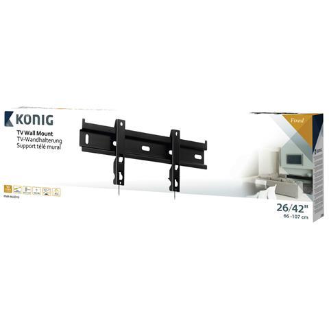 KONIG König KNM-MLED10, 200 x 100, 200 x 200, 400 x 200, 400 x 400 mm, Nero, Metallo, Scatola