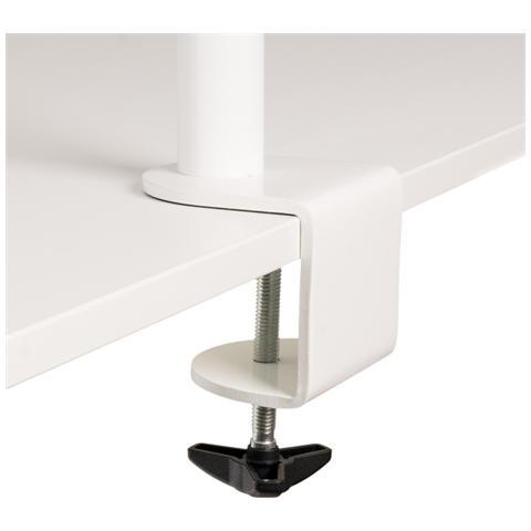 R-Go Tools Braccio portavideo Basic singolo (bianco) , Clamp, 100 x 75 mm, Bianco, 0 - 335 mm, Acciaio, Scatola