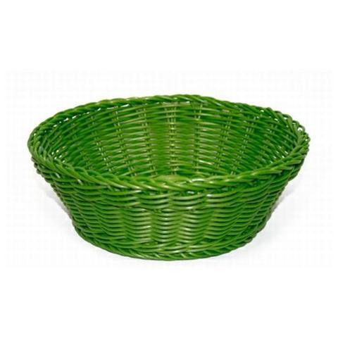 EXCELSA 41237 Cestino Intreccio per Alimenti Diametro 20 cm Colore Verde Scuro