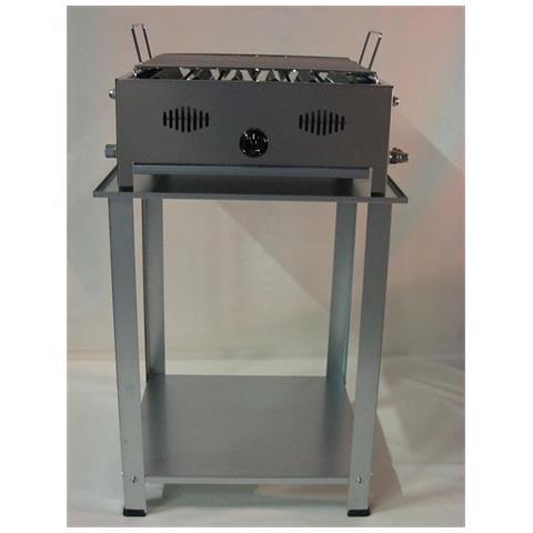 Barbecue A Gas Gpl 1 Fuoco Made In Italy Prodotto Artigianale Inox