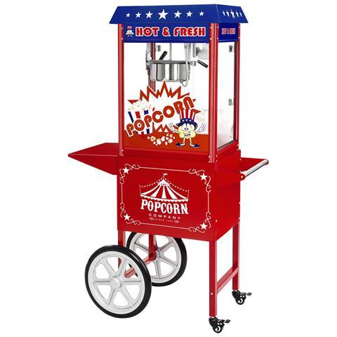 Macchina Per Popcorn - Carrello Incluso - Design Americano