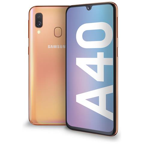Image of Galaxy A40 Corallo Dual Sim Display 5.9'' Full HD+ Octa core Ram 4GB Storage 64GB +Slot microSD Wi-Fi +4G Lte Fotocamera 16Mp Android -Italia