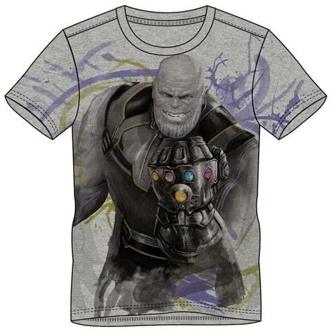 BIOWORLD Avengers: Infinity War - Thanos Grey (T-Shirt Unisex Tg. XL)