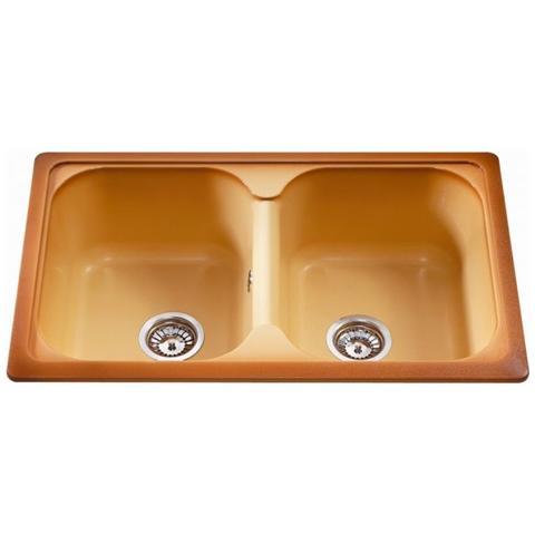 Lavello Cucina 2 Vasche Senza Gocciolatoio.Nardi Elettrodomestici Lavello Lil1162t 2 Vasche Con Gocciolatoio Dimensioni 116 X 50 Cm Colore Terra Di Francia