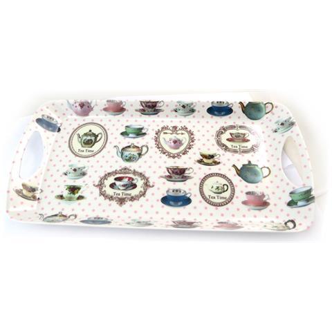 Les Trésors De Lily tè della torta 'tea time' multicolore bianco - 405x205 cm - [ n4291]