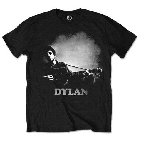 ROCK OFF Bob Dylan - Guitar & Logo (T-Shirt Unisex Tg. S)