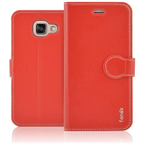 FONEX Identity Book Custodia a Libro per Galaxy A3 (6) Colore Rosso