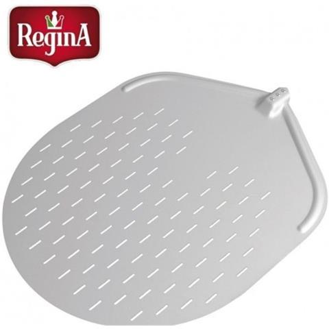 Pala Pizza Pizzeria Cm 45x57 Ovale Forata Alluminio Anodizzato Regina Rs8485