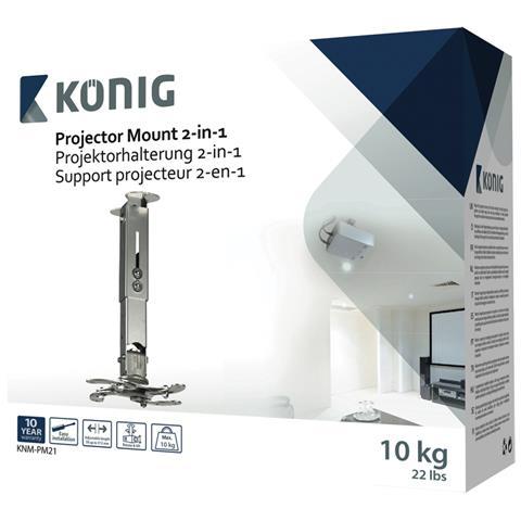KONIG König KNM-PM21, Soffitto / muro, 78 - 312 mm, -20 - 20°