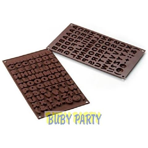 Silikomart Stampo cioccolato abc easy choc 35x18mm h. 16mm 112.5ml silicone