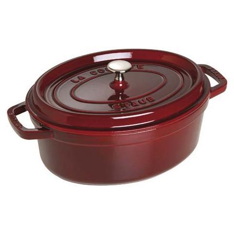 Cocotte in Ghisa con Coperchio Diametro 31 cm Capacità 5.5 lt Colore Rosso - Linea La Cocotte