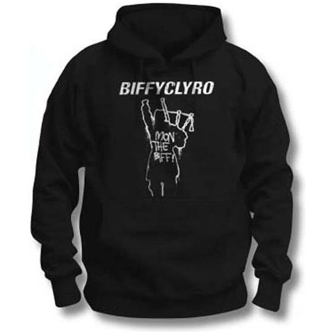 ROCK OFF Biffy Clyro - Mon The Biff (Felpa Con Cappuccio Unisex Tg. L)