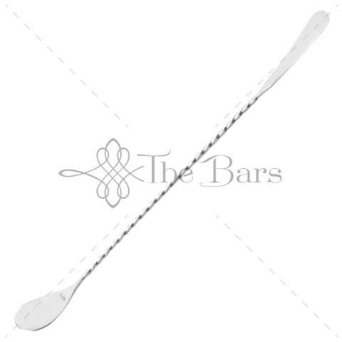 Cucchiaio Bar Agitatore con Forchetta Acciaio Inox 45 Cm