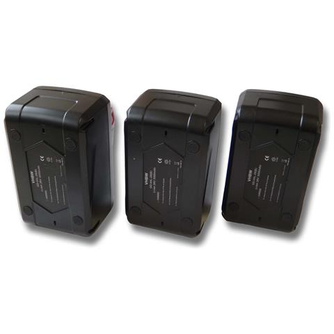 Set Risparmio 3x Li-ioni Batteria 4000mah (28v) Per Aeg, Milwaukee M28, M28b, M28bx, Mc28...