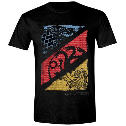 TimeCity Game Of Thrones - Sigil Quotes Distressed (T-Shirt Unisex Tg. XL)