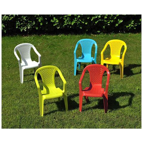 4 Sedie in polipropilene per bambinicm 36,5x40x52 H Colore blu