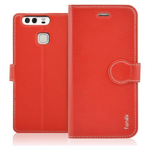 FONEX Identity Book Custodia a Libro per Huawei P9 Colore Rosso