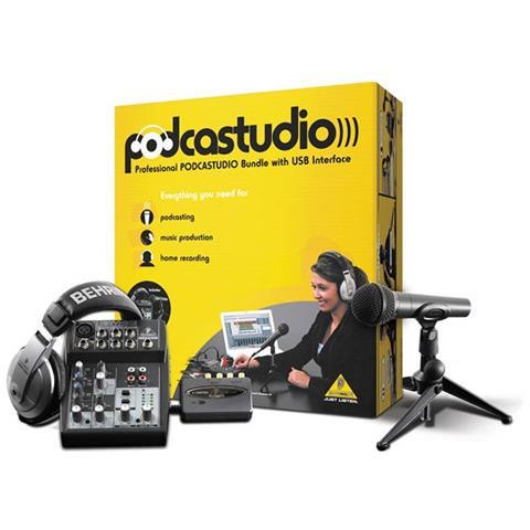 BEHRINGER Sist. PODCASTUDIO USB Mixer+Cuf+Mic013726